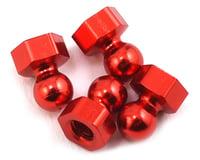 CRC Gen-X 10 RT Damper Tube Hex Ball Studs (Red) (4)