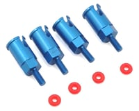 Dromida Aluminum Axle Set, Blue (4): BX MT SC 4.18