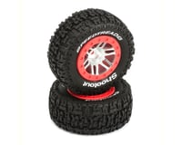 DuraTrax SpeedTreads Shootout Short Course Rear Tires w/12mm Hex (Red) (2)
