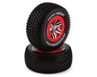 DuraTrax SpeedTreads Triple Threat SC Pre-Mounted Rear Tires (2) (Slash) (HPI Blitz Flux)