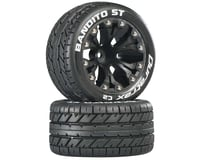 "DuraTrax Bandito ST 2.8"" Mounted Rear Truck Tires (Black) (2) (1/2 Offset) (Traxxas Jato)"
