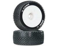 """DuraTrax X-Cons 1/8 Mounted Truggy Tire (White) (2) (1/2"""" Offset)"""