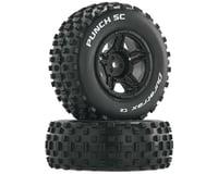 DuraTrax Punch SC 1/10 Mounted Slash Rear Truck Tires (Black) (2) (C2)