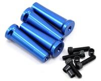 Evolution 50mm Gas Engine Mount Standoff Set (Blue) (4)