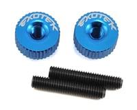 Exotek M3 Twist Nut (Medium Blue) (Kyosho Lazer ZX-6)