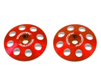 Exotek 22mm 1/8 XL Aluminum Wing Buttons (2) (Red) (Kyosho Inferno MP9 TKI3)