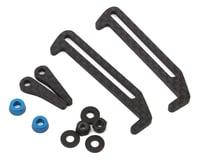 Exotek Carbon Fiber B6.1/B6.1D LiPo Tabs & Cups Set (Battery Brace) (Team Associated RC10 B6.1)