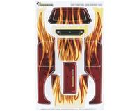 Freqeskinz sKinz Shot Flames Red Design Axial Deadbolt