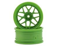 HPI 12mm Hex 52x26mm Tech 7 1/10 Wheel (Green) (6mm Offset) (2)