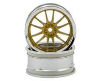HPI Work XSA 02C 26mm Wheel (Chrome/Gold) (2) (6mm Offset)