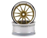 HPI 1/10th Hoonicorn Work XSA 02C 26mm Wheel (2) Chrome/Gold 9mm Offset