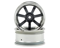 HPI 26mm Rays Gram Lights 57S-Pro Wheel (Chrome/Gunmetal) (2) (6mm Offset)