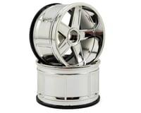 HPI 12mm Hex 35mm LP35 MF Type Wheel (2) (9mm Offset) (Chrome)