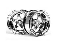 HPI 1/10th Hoonicorn Work Meister Wheel (3mmOffset),Chrome