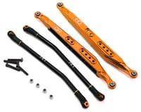 Hot Racing Axial Yeti Aluminum Rear Link Set (Orange)