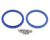 Team Integy 102mm Beadlock Rings (Blue) (2)