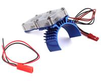 Team Integy Slash 4x4 Motor Heatsink w/Twin Fan (Blue) (Traxxas Ultimate)