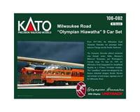 Kato N Passenger Car Set MILW Hiawatha (9)