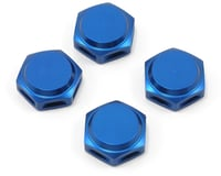 King Headz 17mm Fine Thread Closed End Wheel Nut (Blue) (4) (XRAY XB8E)