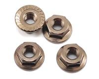Kyosho 4x4.5mm Aluminum Flanged Locknut (Gun Metal) (4)