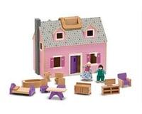 Melissa & Doug Fold & Go Mini Dollhouse