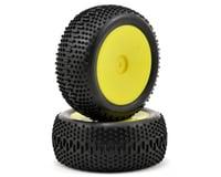Losi Mini King Pin Pre-Mounted Rear Tire Set (2) (Mini 8IGHT) (Yellow)