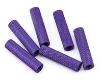 Lumenier 20mm Aluminum Textured Spacers (6) (Dark Purple)