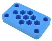 """Maxline R/C Products 6x3.5x1"""" Foam Car Stand (Blue)"""
