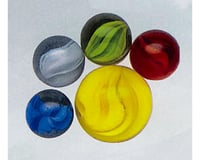 Mega Marbles  Cat's Eye Tri-Color Marbles 24 + 1