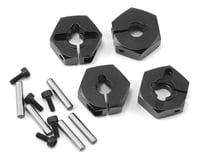 MST CMX 6mm Aluminum Hex Wheel Hubs (Black) (4)