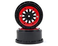 Pro-Line ProTrac F-11 Bead-Loc Short Course Wheels (Black/Red) (2) (Team Associated SC10 4x4)