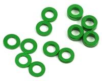 ProTek RC Aluminum Ball Stud Washer Set (Green) (12) (0.5mm, 1.0mm & 2.0mm) (XRAY XB4)