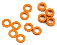 ProTek RC Aluminum Ball Stud Washer Set (Orange) (12) (0.5mm, 1.0mm & 2.0mm) (XRAY XB4)