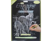 Royal Brush Manufacturing Silver Foil Mare & Foal