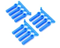 RPM Long Shank 4-40 Rod Ends (Blue) (12) (Losi XXX-4)