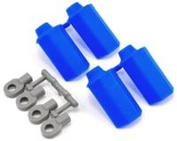 RPM Shock Shaft Guards (Blue) (4) (Team Associated RC10 T4)