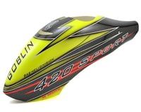 SAB Goblin 420 Sport Canomod Airbrush Canopy (Yellow/Black)