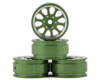 """Samix SCX24 Aluminum 1.0"""" Wheel Set (Green) (4)"""