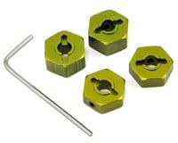 ST Racing Concepts 14mm Aluminum Wheel Hex (Green) (4)