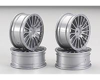 Tamiya Medium Narrow 18-Spoke 1/10 Scale On Road Wheels (Silver) (4)