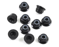 Team Losi 22X-4 Racing 3mm Flanged Aluminum Locknuts (10) (Black)