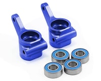 Traxxas Stampede Aluminum Steering Blocks w/Ball Bearings (Blue) (2)