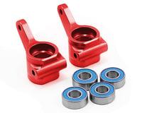 Traxxas Drag Slash Aluminum Steering Blocks w/Ball Bearings (Red) (2)