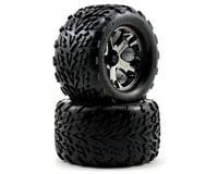Traxxas Talon Front Tires w/All-Star Wheels (2) (Black Chrome)