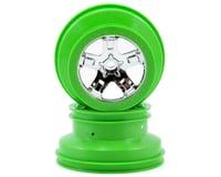 Traxxas Nitro Slash SCT Beadlock Wheels (Chrome/Green) (2)