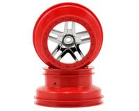 Traxxas Slash 12mm Hex Dual Profile Split-Spoke SCT Wheels (Chrome/Red) (2) (Slash Front)