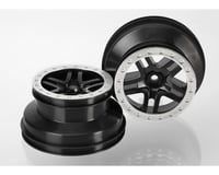 Traxxas Nitro Slash SCT Wheels Beadlock (Black/Chrome) (2)