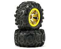 Traxxas 1/16 Summit Pre-Mounted Canyon AT Tires w/Geode Beadlock Style Wheels (2) (Chrome/Yellow)