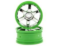 Traxxas Volk Racing TE37 Wheel Set (2) (Chrome/Green)