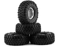 """Traxxas TRX-4 Blazer Pre-Mounted Canyon Trail 1.9"""" Crawler Tires (Chrome)"""